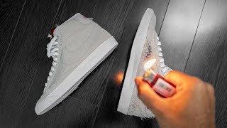 Why I BURNED This Sneaker | Nike Upside Down Blazer ON FEET REVIEW