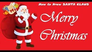 Christmas special - How to draw Santa - saint Nicholas - world crafty