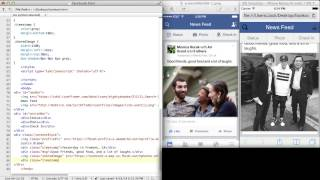 Recreating Facebook UI with HTML and CSS (live coding screencast)