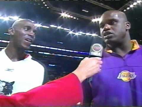 Kevin Garnett and Shaq interviewed by Cheryl Miller 2004 All-Star game