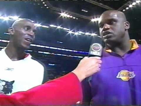 Kevin Garnett and Shaq interviewed by Cheryl Miller 2004 All-Star game