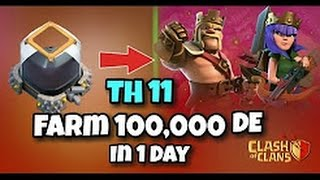 LAVALOON : TH11 DARK ELIXIR FARMING STRATEGY || TROPHY PUSHING STRATEGY. CLASH OF CLANS 2017