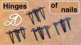 How to make a loop of nails. Handmade hinges DIY