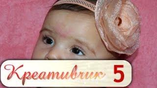 #5. Повязка на голову для ребенка. Цветок из ткани.(