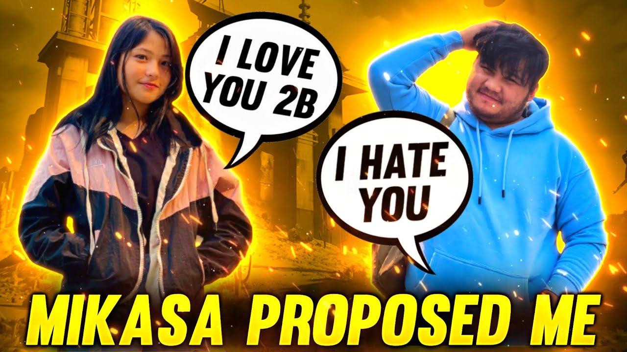 😂Mikasa Proposed Me❤ || I Rejected Her || तुम मेरी बहन हो😂😂Garena Freefire