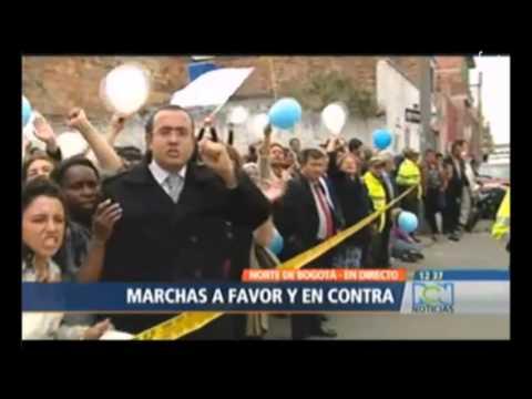 Manifestaciones encontradas por declaraciones discriminatorias de Maria Luisa Piraquive