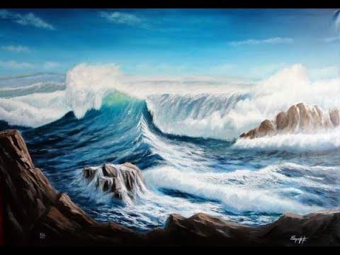 Corso di pittura a olio dipingere il mare waves n2
