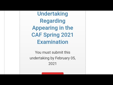 Undertaking regarding appearance in the CAF Examination 2021 complete guidance