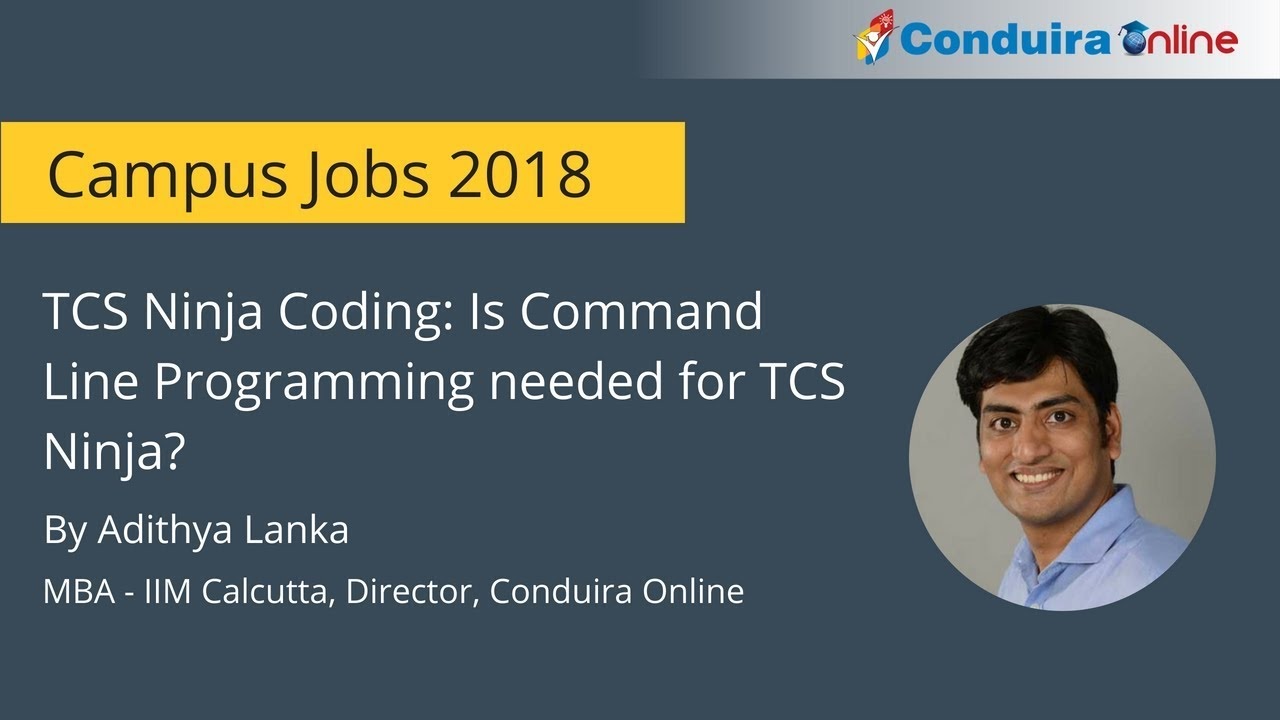 Is Command Line Programming needed for TCS NQT Coding Section?