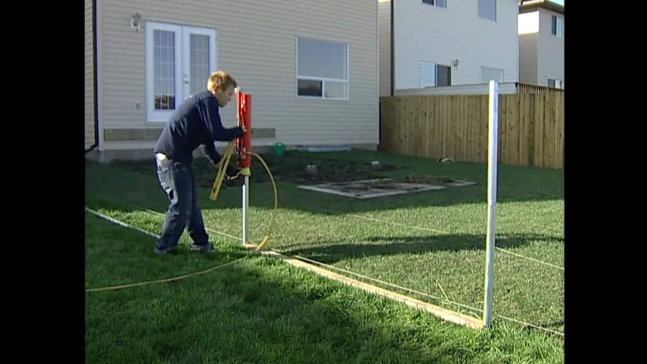 Vinyl Fencing install video Straightn level Fencing Solutions post