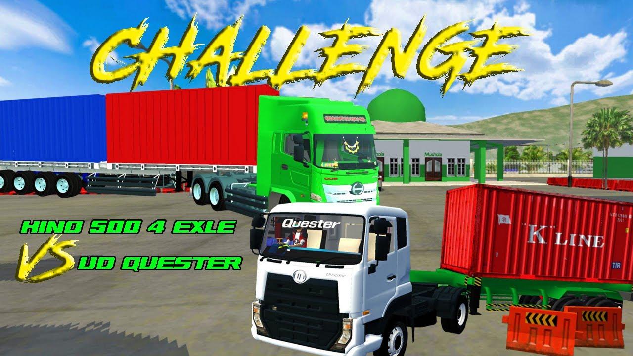 CHALLENGE HINO KONTAINER 4 EXLE VS UD QUESTER