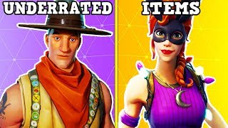 20 UNDERRATED SKINS - ITEMS YOU NEED TO BUY IN FORTNITE!