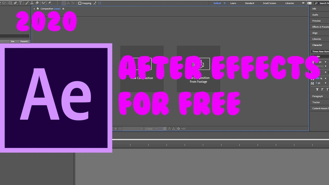 How To Get Adobe After Effects Cc 2020 For Free September 2020 Youtube