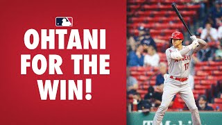 The Angels were down to their last out when Ohtani went deep for the lead!