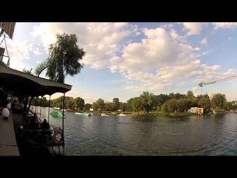 Wakeboarding the Obolon Cable Park in Kiev Ukraine