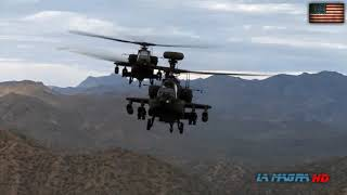 Boeing AH-64A Apache Attack Helicopter In Action