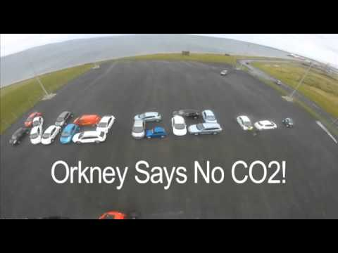 Orkney EV owners spelling out a Message to the World !