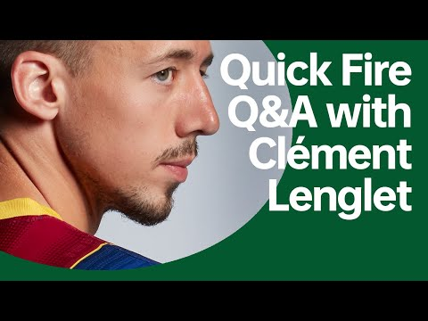 Quick Fire Q\u0026A With Clément Lenglet   OPPO X FC Barcelona