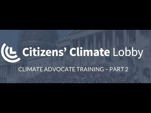 Climate Advocate Training Lesson Two