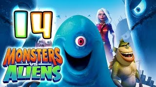 Monsters VS Aliens Walkthrough Part 14 (PS3, X360, Wii, PS2) ~ B.O.B. Level 14