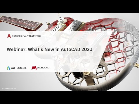 MicroCAD | Webinar: What's New in AutoCAD 2020
