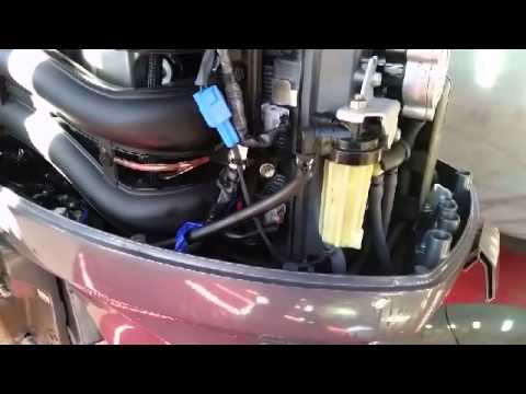 Changing the Fuel Filter on a Yamaha F90 - YouTube