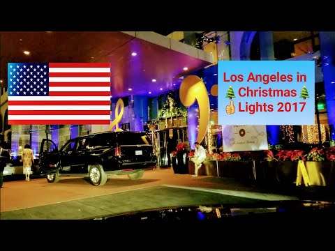 Dash Cam Tours 🚘 - Driving through the Streets of Los Angeles in Christmas Lights 2017