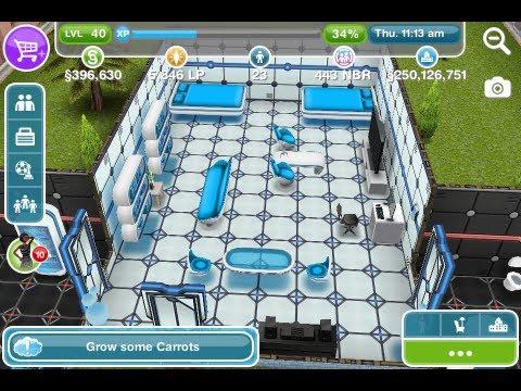 The Sims Freeplay - The Sci Fi House Walk Through - YouTube