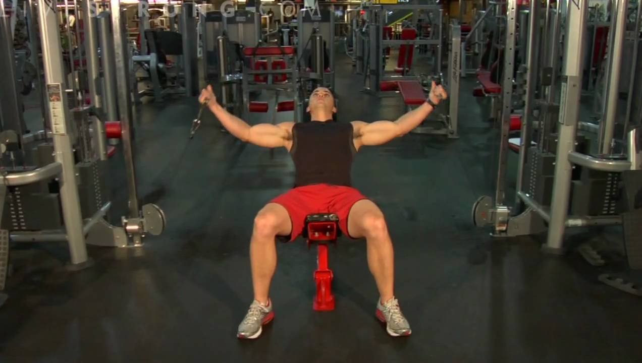How To Do Incline Bench Cable Flys Youtube