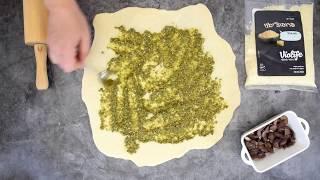 הפקת סרטוני אוכל - שבלולי בצק, פסטו ופרמזן טבעוני violife
