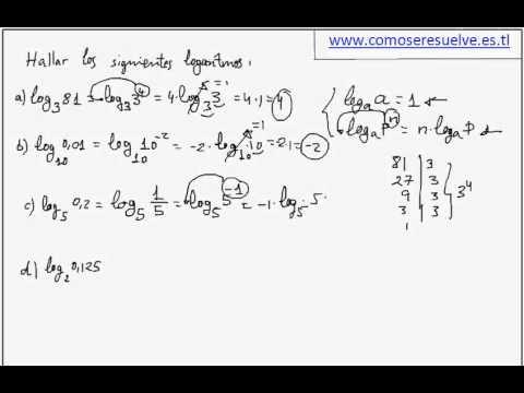 Ejemplos de la primera propiedad de logaritmos