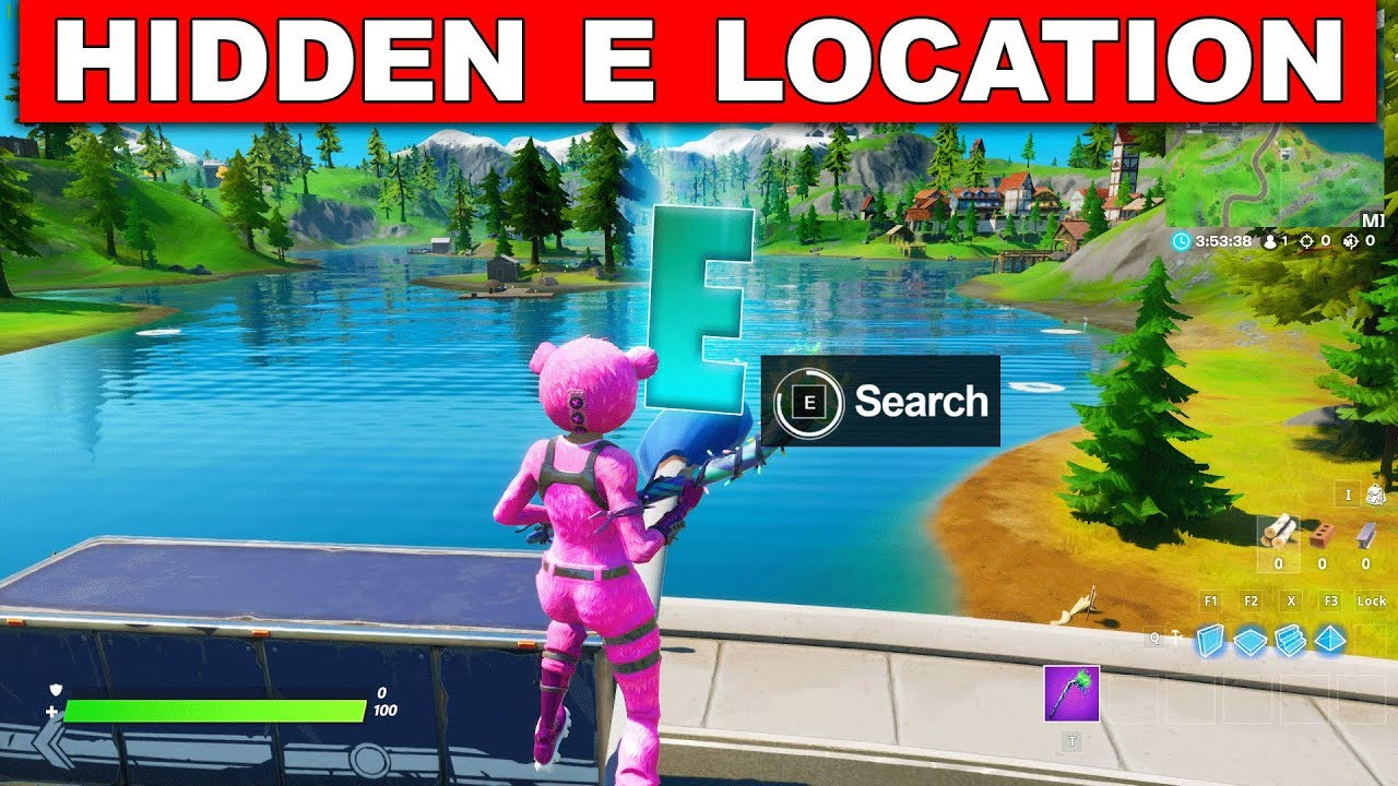 Search The Hidden E Found In The Dive Loading Screen Location Collect Fortnite Hidden Letters