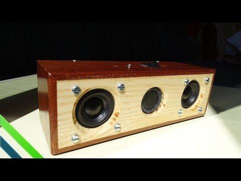 Making a DIY Speaker Using Mahogany Wood