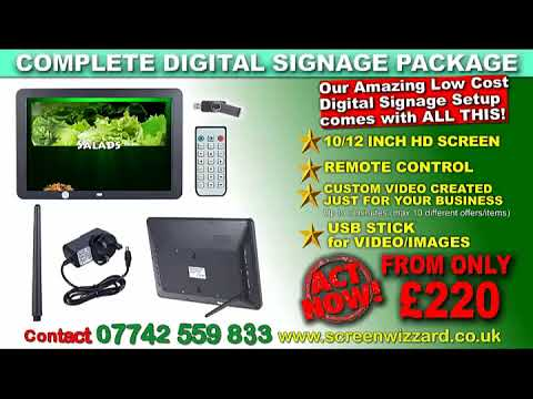 digital signage package  Complete solution for a low price