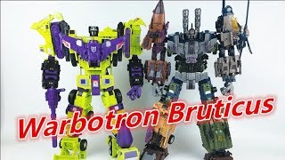 Transformers Jinbao oversized Warbotron Bruticus Review变形金刚金宝放大版混天豹-刘哥模玩