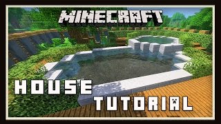 Minecraft:  Modern House Build  (part 6 Swimming Pool Tutorial)
