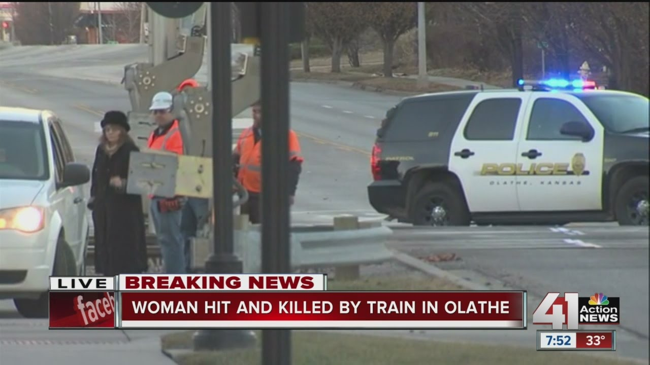 Woman killed in train vs  pedestrian crash