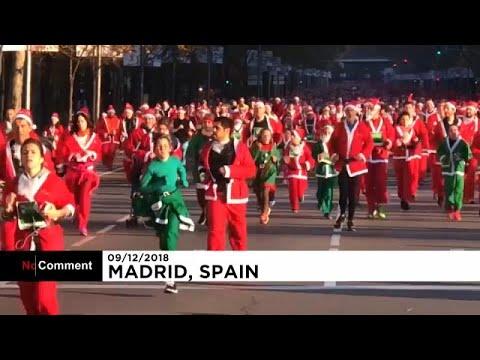 Pais Natal correm atrás do espírito natalício em Madrid