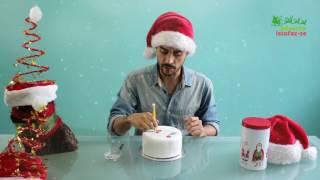 Bolo com transfers de chocolate com o Michael Almeida