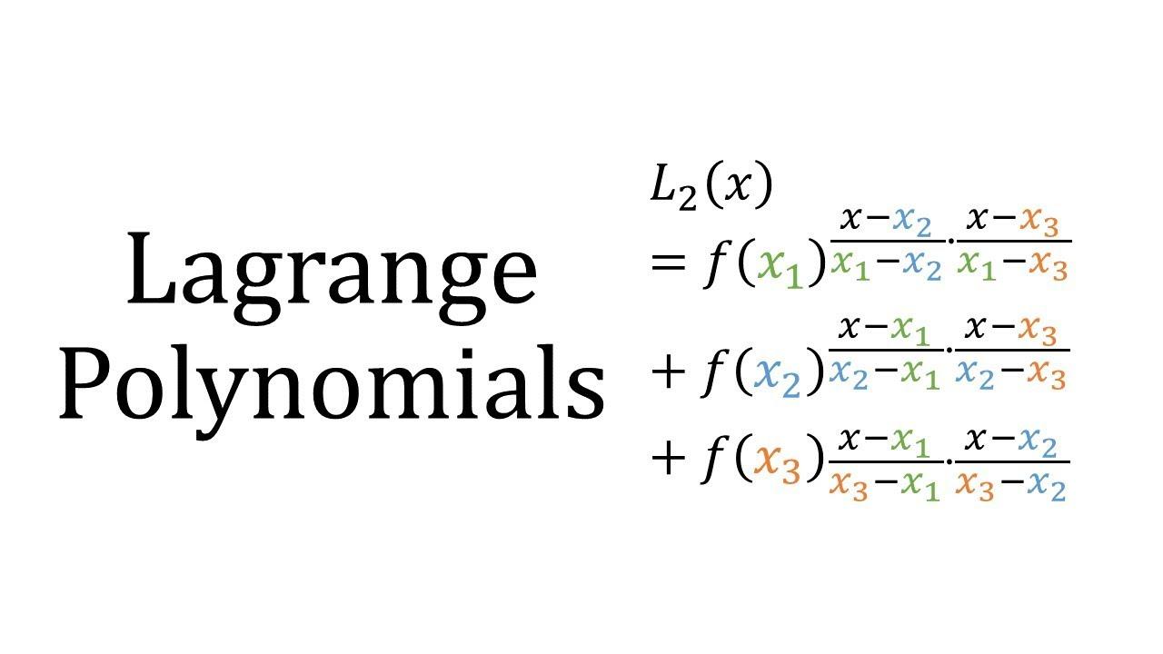 Lagrange Polynomials - YouTube
