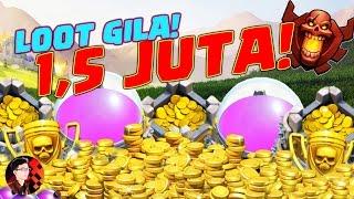 LOOT FANTASTIS 1.5 JUTA! - Clash of Clans Indonesia