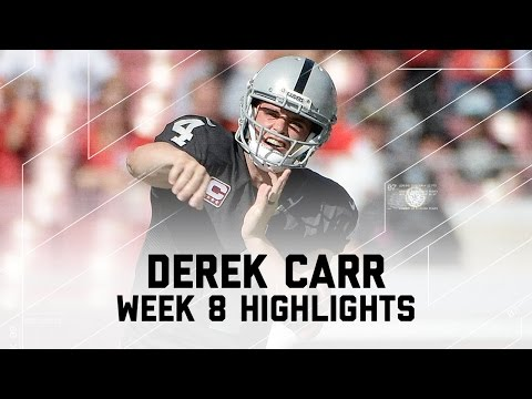 Derek Carr Throws for Over 500 Yards | Raiders vs. Buccaneers | NFL Week 8 Player Highlights