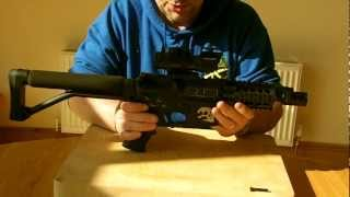 Custom built M4 Zombie Killer Airsoft Gun. DMR and CQB in one gun by domainofairsoft