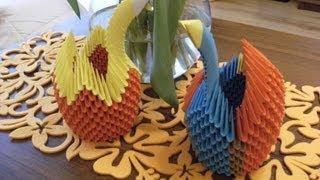Origami 3d - Elegant Crane I - How To Make