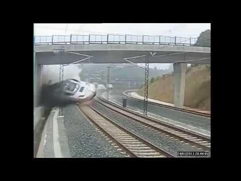 Raw Footage  Spain Train CRASH Near Santiago De Com