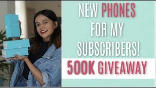 Giving Away NEW PHONES To My Subscribers! 500K GIVEAWAY! | Komal Pandey