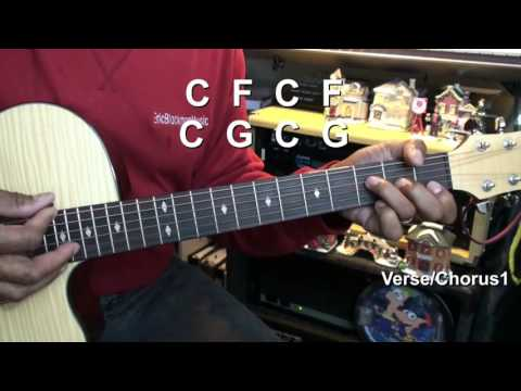 Santa Claus Is Coming To Town EASY Chords Guitar Lesson EricBlackmonMusicHD