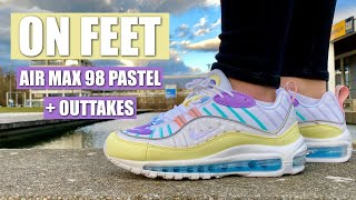 Nike Air Max 98 Pastel On Feet Outtakes