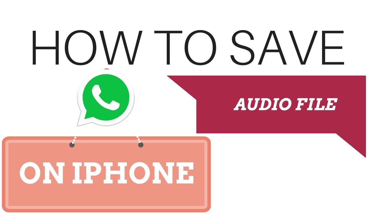 how to save files on iphone how to save whatsapp audio file in iphone 8 2017 19049