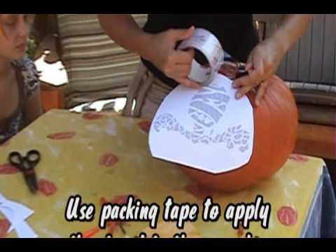 How To Carve A Pumpkin Using A Pumpkin Stencil
